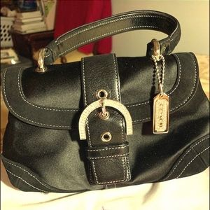 Coach Winter Time Satin and Leather Bag